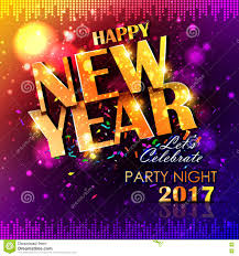 happy new years posters happy new year 2017 party celebration poster stock vector image