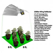 1000 watt hps light yield lab 1000 watt wing reflector hps and mh grow light kit grow