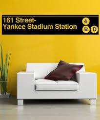 vinyl wall decal sticker yankee stadium subway sign 1284