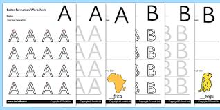 printable alphabet worksheets uk uppercase a z letter formation worksheets letter formation a z