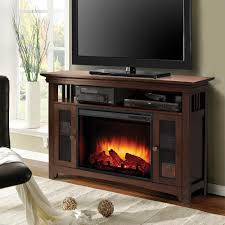 ameriwood carver gray electric fireplace 60 in tv stand