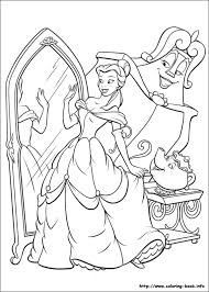 beauty beast beauty beast coloring pages