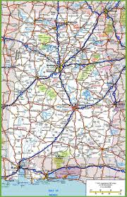 Road Map Of Michigan Alabama Road Map