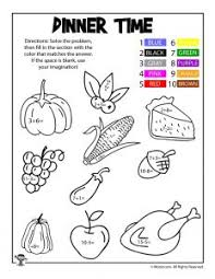 thanksgiving math coloring worksheets woo jr activities