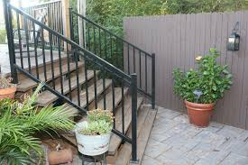 decor u0026 tips exciting wood handrails and iron stair railing with