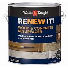 Spray Paint Bunnings - white knight renew it 4l wood u0026 concrete resurfacer bunnings