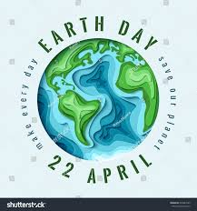 world earth day concept 3d paper stock vector 624627599 shutterstock