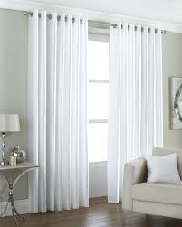 faux silk white fully lined ring top eyelet curtains drapes 6