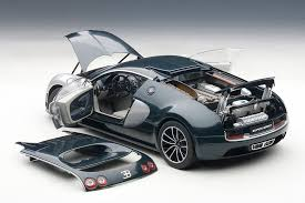 toy bugatti autoart bugatti veyron super sport dark blue w silver white