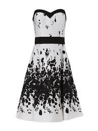 norman dresses lyst norman floral prom dress in white