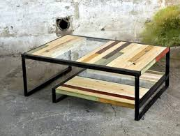 Metal Glass Coffee Table Pallet Metal And Glass Coffee Table 101 Pallets