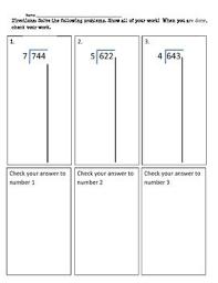 26 best math partial quotient images on pinterest partial