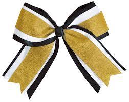 black and gold ribbon chassé jumbo 3 color metallic hair bow omni cheer