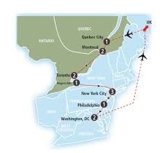Eastern Canada Map by The Best Of Eastern Canada And Usa Amtrak Vacations