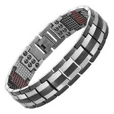 black titanium bracelet images Magnetic black titanium bracelet for men lots of colors jpg