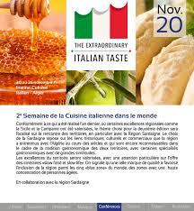 formation cuisine italienne 2ème semaine de la cuisine italienne dans le monde