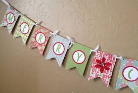 merry christmas ribbon merry christmas ribbon pennant banner by cactusscraps on etsy