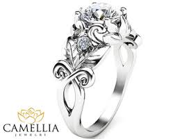 sunflower engagement ring view unique engagement ring by camelliajewelry on etsy