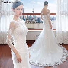 luxury mermaid wedding dresses darlingoddess backless lace mermaid wedding dresses luxury hafl