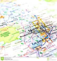 Washington State Detailed Map Stock by Map Of Seattle Stock Image Image Of National Road States 42374205