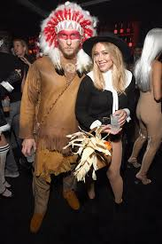 Cowboy Indian Halloween Costumes Adults Hilary Duff Boyfriend Offend Pilgrim Native