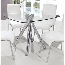 glass and chrome dining table square glass dining table incredible rectangular clear chrome legs