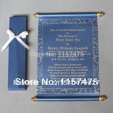 scroll invitations aliexpress buy hi2051 hot sale scroll invitations for party