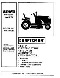 craftsman lawn mower 944 602951 user guide manualsonline com