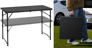 Walmart Massage Table Walmart Two Mainstays Adjustable Folding Tailgating Tables Only