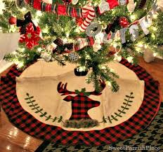 plaid tree skirt my plaid inspired christmas tree sweet parrish place