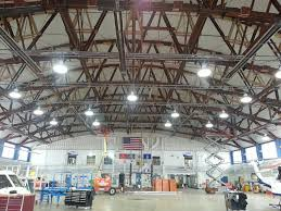 light industrial warehouse space helicopter hangar lights sikorsky helos induction high bay lighting