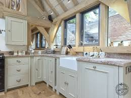 In Frame Kitchen Cabinets Exposed Oak Frame In Kitchen Extension On House In Devon