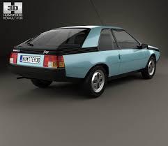 1984 renault fuego 100 renault fuego concept cars renault fuego 1980 3d model