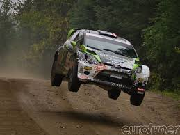 subaru rally jump ken block wins defi canadian rally event eurotuner magazine