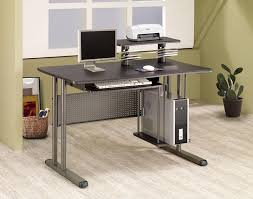 Modern Computer Desks by Stylist And Modern Computer Desk With Clear Tempered Glass And
