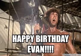 Happy Birthday Meme Gif - happy birthday evan
