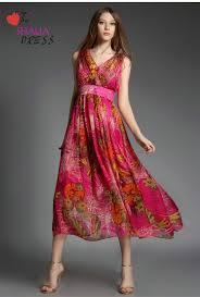 sh 007 pink red floral bohemian beach maxi dress casual plus size