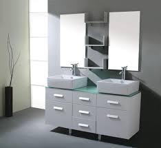 Modern White Bathroom Vanity by White Bathroom Double Vanity Decorating Clear