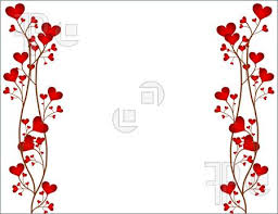 love red flower frame for powerpoint templates ppt backgrounds