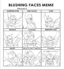 blushing face meme starscream first meme drawing by dragongirl900