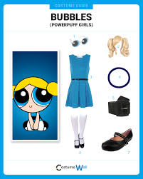 Powerpuff Girls Halloween Costumes Dress Bubbles Powerpuff Girls Bubbles Costumes
