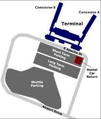 tulsa airport map concessions tulsa international airport