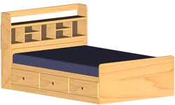 mate s double bed captain s bookcase headboard woodworking plans