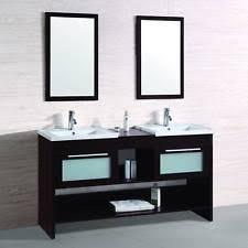 mirrored sink vanity ebay