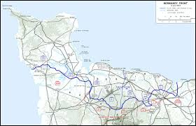 Normandy France Map Hyperwar Us Army In Wwii Breakout And Pursuit