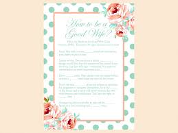 mint and peach bridal shower game package magical printable