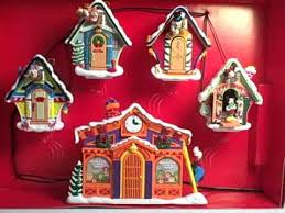 mickey u0027s clock shop mr christmas animated musical decoration