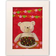 cadre ourson chambre bébé tableau enfant ours cadre ourson ours illustration ourson