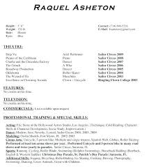 theatrical resume format actor resume format theatre resume template best of theatre resume