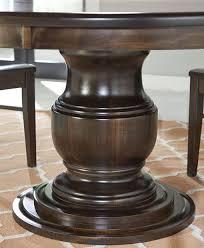 Pedestal Table Bases Ziglar Pedestal Table Amish Direct Furniture